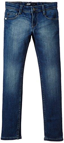 Skinny Super ' Jeans S Levi (Levi's Kids Mädchen Jeans Skinny fit, Einfarbig, Gr. 128 (Herstellergröße: 8A), Blau (Indigo 46))