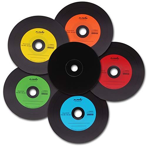 NMC Vinyl CD-R Bunt Carbon Dye komplett schwarze Rückseite CD-Rohling 700MB 50 Stück
