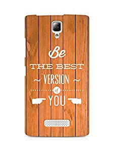 Amez Be the Best version of Yourself Back Cover For Lenovo A2010