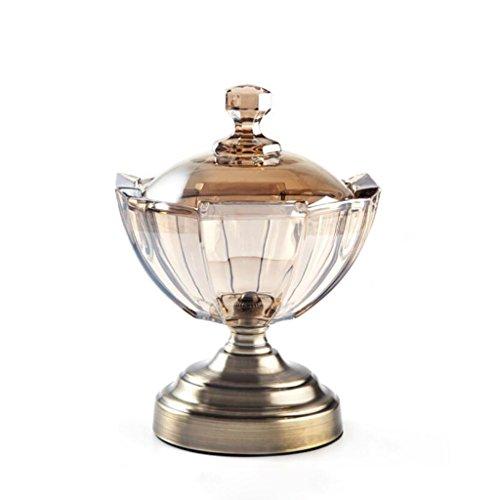 Unbekannt LQ Kreative Kristallglas Candy Storage Jar Verschiedene Körner Container Handwerk Dekoration Lagertank Geschenk Kunsthandwerk (Size : 23 * 17cm) -