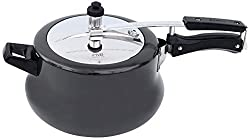 PNB Belly Hard Anodised Cooker, 3.5 Litres, Black