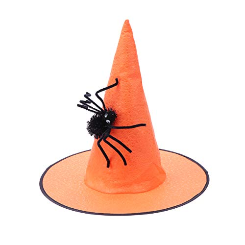 t Hexe Dress Up Spinne Vlies Kappe Hüte Make-up Requisiten für Party Festival Maskerade (Orange) ()