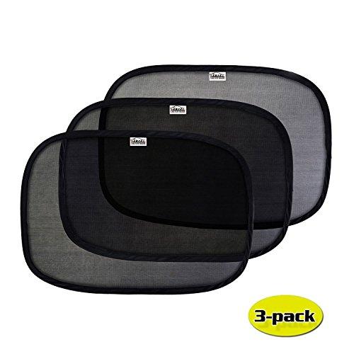 GAMPRO 3-Pack Auto Fenster Sonnenschutz, 2-Schicht Pop-Up Auto Fenster Schatten mit Static Cling Technologie für Ihre Kinder und Haustiere, hält schädliche UV-Strahlen von Ihrer Familie (51cm x 31cm) Universal Pop-up-shade