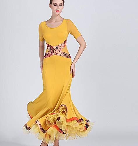 SMACO Standard Ballroom Dance Kleider Waltz Dress Fringe Dance Wear Ballroom Dance Kleid Modern Dance Kostüme - Fringe Kleid Dance Kostüm