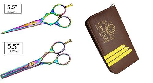 CANDURE® – Geschenkset Friseur & Dünner Werdendes Haar-Schere Friseur Schere + Scheren Tasche