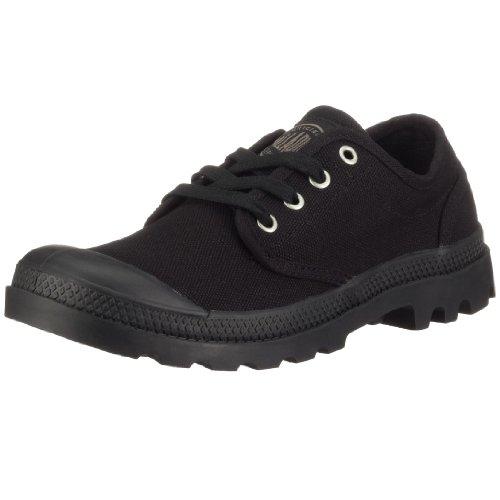 Casual Canvas Oxford (Palladium Pampa Oxford, Herren Sneakers, Schwarz (Black/Black), 39.5 EU (6 Herren UK))