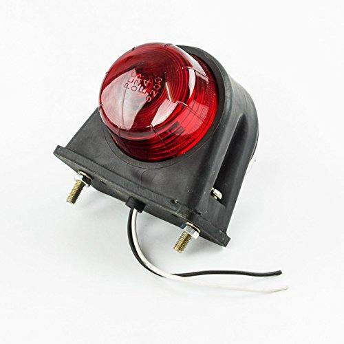 Begrenzungsleuchte 67x78mm rot/weiß Positionsleuchte Sicherheitslicht
