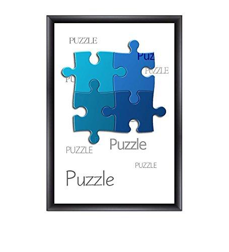 """Cadre à puzzle / photo """"Valencia"""" 60X84cm Noir (mat) pour 1500-2000 Pièces"""