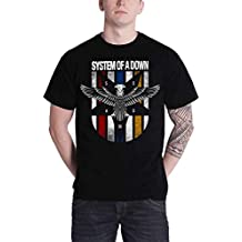 System of A Down T Shirt Eagle Crest Band Logo Officiel Homme