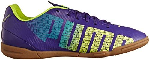 Puma evoSPEED 5.3 IT, Scarpe sportive indoor uomo Viola (Violett (prism violet-fluro yellow-scuba blue 01))