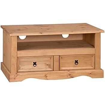Mercers Furniture Corona 2 Drawer Flat Screen TV Unit   Pine