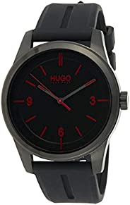 Hugo Boss Men's Black Dial Black Silicone Watch - 153