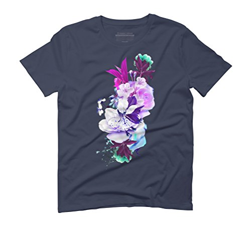 Flowers I Men's Graphic T-Shirt - Design By Humans Navy