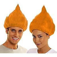 My Other Me - Peluca troll, color naranja (Viving Costumes 203824)