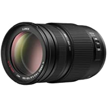 Panasonic 100-300 mm f/4.0-5.6 MEGA - Objetivo para micro cuatro tercios (distancia focal 100-300mm, apertura f/4-22, zoom óptico 0.42x,estabilizador) color negro