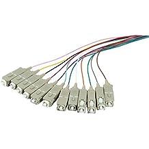 Techly ILWL PG-SC-OS2 2m 12x SC Multicolour set cable de fibra optica - Cable de fibra óptica (2 m, LSZH, OS2, 12x SC, Macho, Multicolour set)