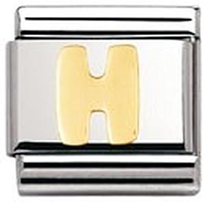 Nomination Composable Classic BUCHSTABEN Edelstahl und 18K-Gold (H) 030101