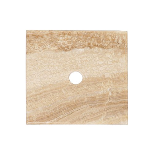Honig Onyx Stein (Naturstein Onyx Marmor Waschtisch Platte Smini rechteckig glatt honig ✓)