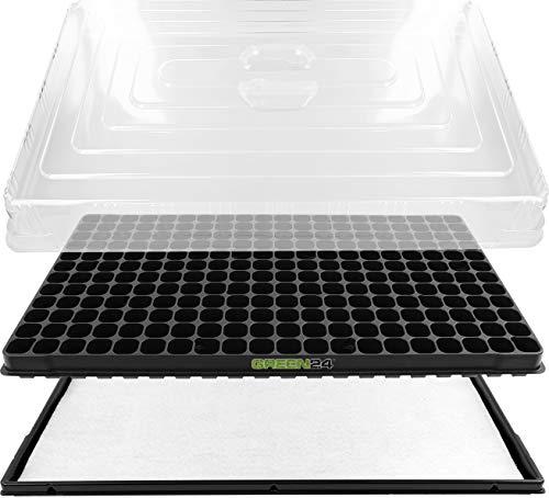 GREEN24 Hydroponik 240 XL Profi Anzuchthaus Zimmer-Gewächshaus mit automatischer Bewässerung Zimmer Gewächshaus – Treibhaus