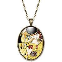 Collana cabochon Klimt