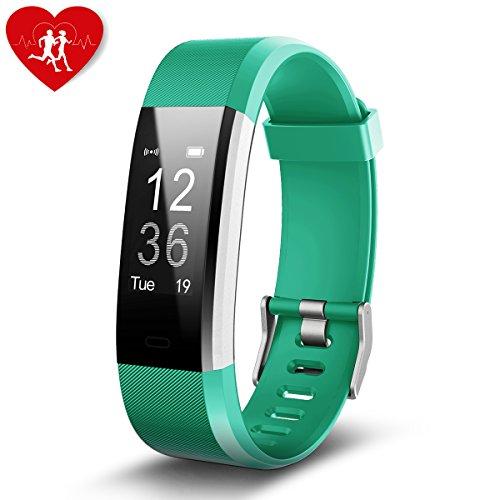 Fitness Tracker,Aokey Fitness HR Armband Uhr mit Pulsmesser Aktivitätstracker IP67 wasserdichte smart Watch Sport Fitness Schrittzähler,Bluetooth Touchscreen Armbanduhr mit Herzfrequenz / Schlafanalyse / Kalorienzähler,SMS Anrufe Reminder Fitness Uhr für Android und iOS