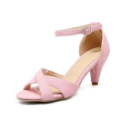 LvYuan Da donna-Sandali-Formale Casual Serata e festa-Altro-A stiletto-Felpato-Nero Rosa Grigio Pink