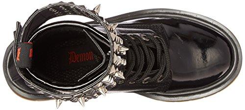 Demonia Rival-106, Bottes Classiques femme Noir (Blk Pu))