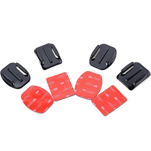 XCSOURCE® Accessori Kit 2pcs Superficie Curva Montaggio + 2pcs superficie piatti adattatori di superficie + 4pcs adesivi di montaggio montatura sostegno adesivo Per telecamera videocameraGoPro HERO 1/2/3/3+ OS033