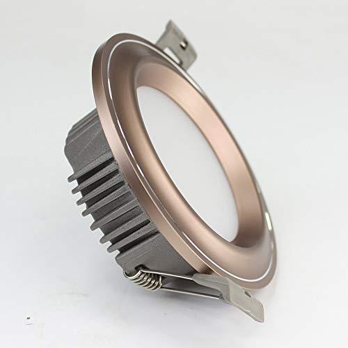 Druckgegossenes Aluminium-Luxus-Downlight führte Decken-Licht-Dekor-elegantes vertieftes Scheinwerfer-hohe Helligkeits-Küche-Restaurant-Ebenen-Deckenlampen-Platten-runde ultra dünne Handelsbeleuchtung (Hohe Decke Dekor)