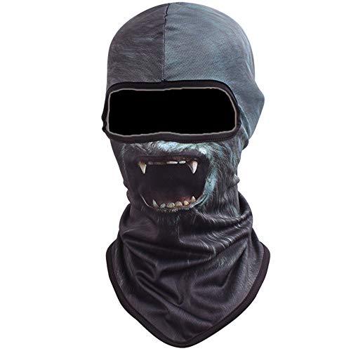 Vertvie Unisex Maske Atmungsaktiv Gesichtsmaske Halloween Motorrad Ski Snowboard Fahrrad Maske Outdoor Sport Schlauchtuch 3D Druck Sturmhaube(One Size, Motiv ()