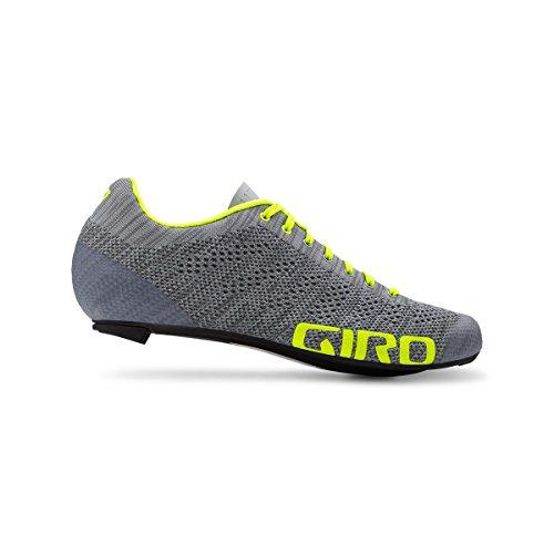 Giro Scarpe Road Empire E70 Knit, Grey Heather/Hi-Yellow Grigio