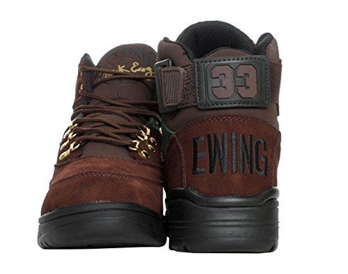 Patrick Ewing Mens Ewing 33 Hi Winter Suede Trainers Brun Foncé