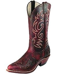 Botas de los EE.UU.-Botas, botas de cowboy BO-6007-50-C (pie normal), diseño de mujer, color marrón