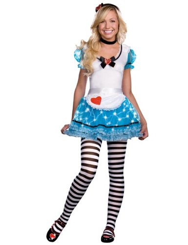 Sexy Wonderland Delight Light Up Costume Teen Adult (Wonderland's Delight Kostüme)