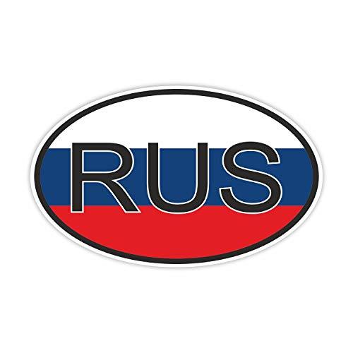 easydruck24de 1 Auto-Aufkleber Länderkennzeichen Russland I kfz_067 I 14,5 x 9 cm groß I Sticker Fan-Artikel Produkt Flagge Fahne Fahrzeug-Aufkleber