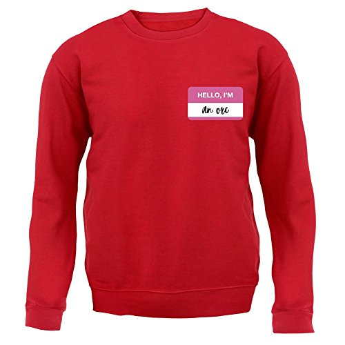 Hello I'm an Orc - Kinder Pullover/Sweatshirt - Rot - L (7-8 Jahre)