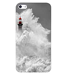 ColourCraft Beautiful Water Waves Design Back Case Cover for APPLE IPHONE 4