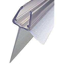 Profilé d'étanchéité en verre Transparent, joint de rechange pour cabine de douche, porte de douche, longueur: 100 cm, bande d'étanchéité prolongée de 25 mm pour 6 mm, 7 mm, 8 mm vendus par Sealis