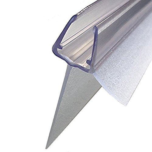100cm Sealis Ersatz Duschdichtung mit verlängertem Dichtkeder 25mm - Dichtung für 5mm/ 6mm/ 7mm/ 8mm Glasdicke Duschkabine Wasserabweiser Duschdichtung Schwallschutz - Transparent