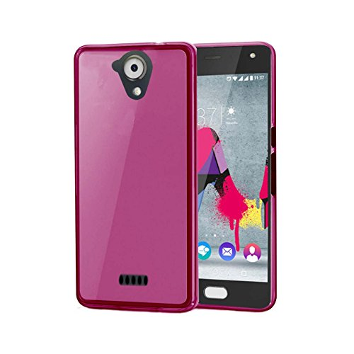 Ordica DE® Wiko U feel Lite Hülle Silikon Pink Case TPU Dünn Cover Schutzhülle [Jelly case]