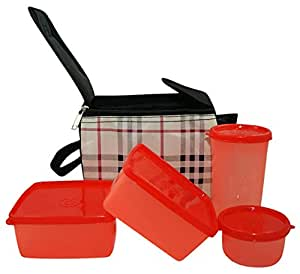 Topware Plastic Lunch Box Set, 1200 Ml, Multi-Colour