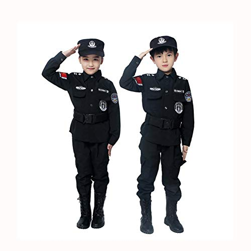 stüm für Kinder Polizei Dress Up Kostüm Set Fasching Karneval Kostüm Polizist 140 cm ()