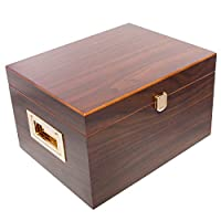 Supreme Valet Box in Dark Walnut Veneered Wood