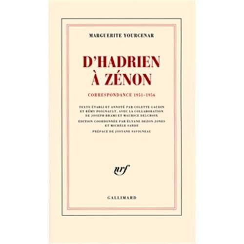 D'Hadrien à Zénon : Correspondance, 1951-1956