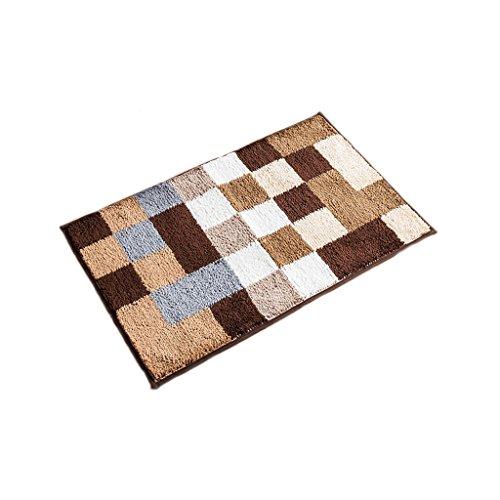 Tür-matte, Wolldecke (XUANLAN Teppich-Tür-Wolldecken, Badezimmer-Toiletten-Tür-Saug-Auflage rutschfeste Matte ( Color : Brown , Size : M ))