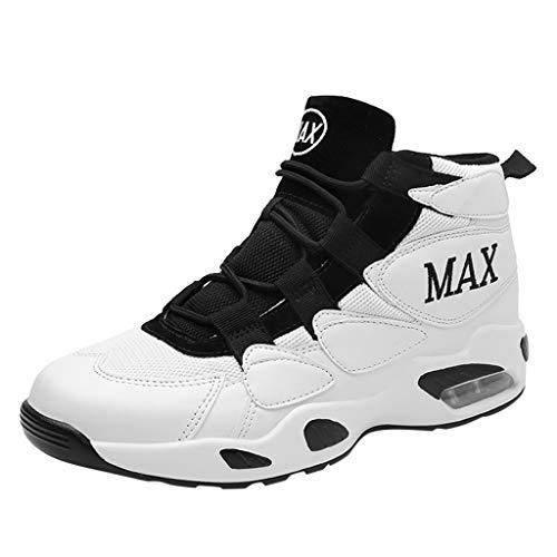 n Bequeme Abnutzungs Kissen Hohe Basketball Schuhe Art Weisepaar Atmungsaktiv Sportschuhen Leichte Sneaker Laufschuhe Reiseschuhen Freizeitschuhe Turnschuhe Outdoor Running Schuhe ()
