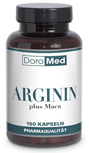 L-Arginine-Plus-Maca-Capsules-150-Highly-Dosed-Pharmaceutical-Quality-Caps-100-Pure-Arginin-Maca-Root-Powder-1600mg-Arginine-Powder-400mg-Maca-Extract-per-Daily-Serving-Backed-by-Amazon-Guarantee