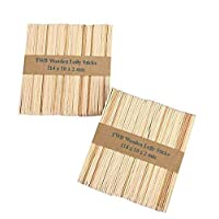 100 pcs Wooden Lolly Sticks, Natural Lollipop Sticks for Ice or Cake Pops & Kids Crafts Models, 114 x 10 x 2 mm