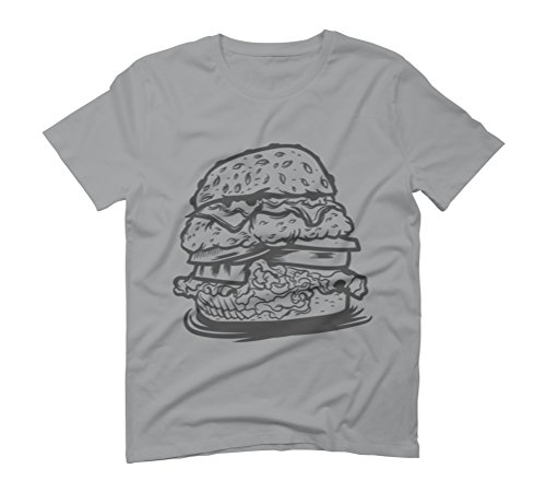 Burger Line Art Men's Graphic T-Shirt - Design By Humans Opal