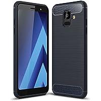 Acelive Funda Samsung Galaxy A6, Funda Blanda a Prueba de Golpes Funda de Silicona TPU Funda para Teléfono Inteligente Samsung Galaxy A6 2018 (azul)